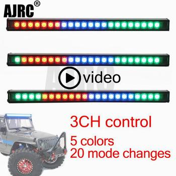20 modes flicker RC Car Upgrade Parts LED Light Bar Bulbs Roof Lamp for 1/10 RC Crawler Traxxas TRX4 Axial SCX10 90046 D90 TF2 rc crawler car reverse axle sets upgrade parts for 1 10 remote control axial scx10 2 ii jeep cherokee 90046 47 4wd d90 tf2 truck