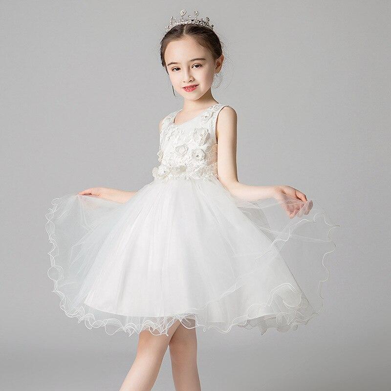 Girls' Shirt Princess Dress Summer Style Children Formal Dress Children Dress Mesh Skirt Kindergarten Costume