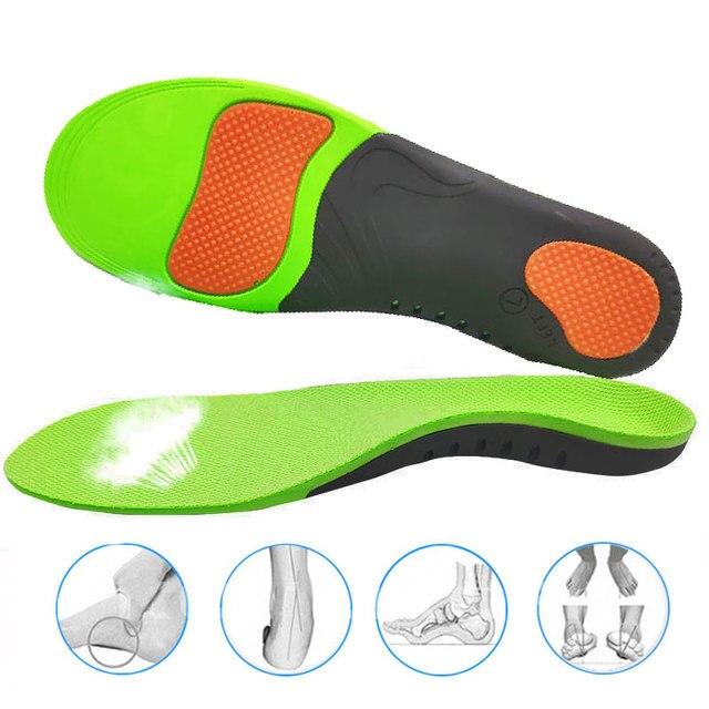 הטוב ביותר קשת רגל אורתופדים נעלי Sole רפידות לנעליים Pad X/O סוג רגל תיקון שטוח רגל קשת תמיכה ספורט נעלי מוסיף