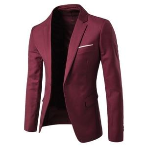 2Pcs/Set Plus Size Men Solid Color Long Sleeve Lapel Slim Button Business Suit men costume homme perfect gifts for men