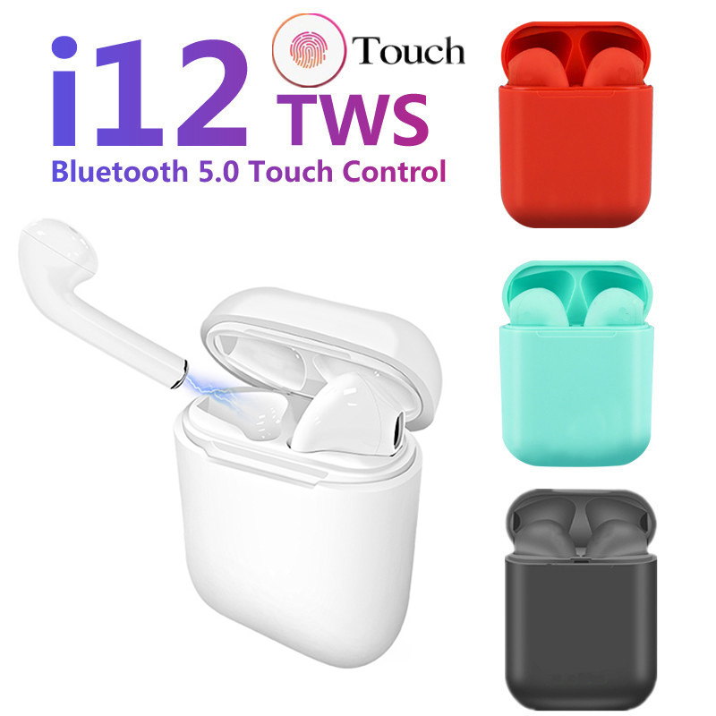 Original I12 Tws Air Bluetooth 5.0 Earphones Earbuds Sport Wireless Headphone For IPhone Samsung Huawei I12tws Headset I 12 Tws