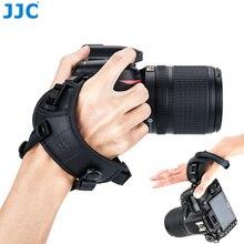 JJC מתכוונן מצלמה רצועת יד שחרור יד רצועת מצלמה חגורת מחזיק עבור Canon Nikon Sony Fuji אולימפוס Pentax Panasonic