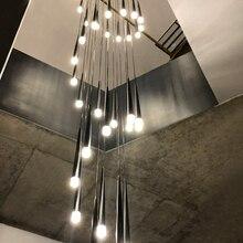 Modern yaratıcı LED kolye ışıkları oturma odası için restoran bar oturma yatak odası metal luminaria karartma kolye lamba