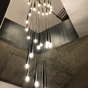 Image 1 - מודרני creative LED תליון אורות סלון מסעדה בר סלון מיטת חדר מתכת luminaria עמעום תליון מנורה