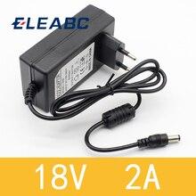 Adapter Converter Power-Supply Dc 18v Eu-Plug 2000ma 18v 2a 1PCS AC 100V-240V