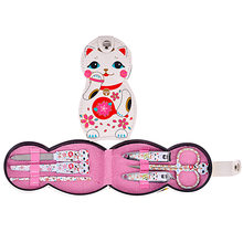 Jin li Nail Clippers Lucky Cat Nail Clippers Set Manicure Tools Nail Scissors Japanese-style Meng Manicure Set(China)