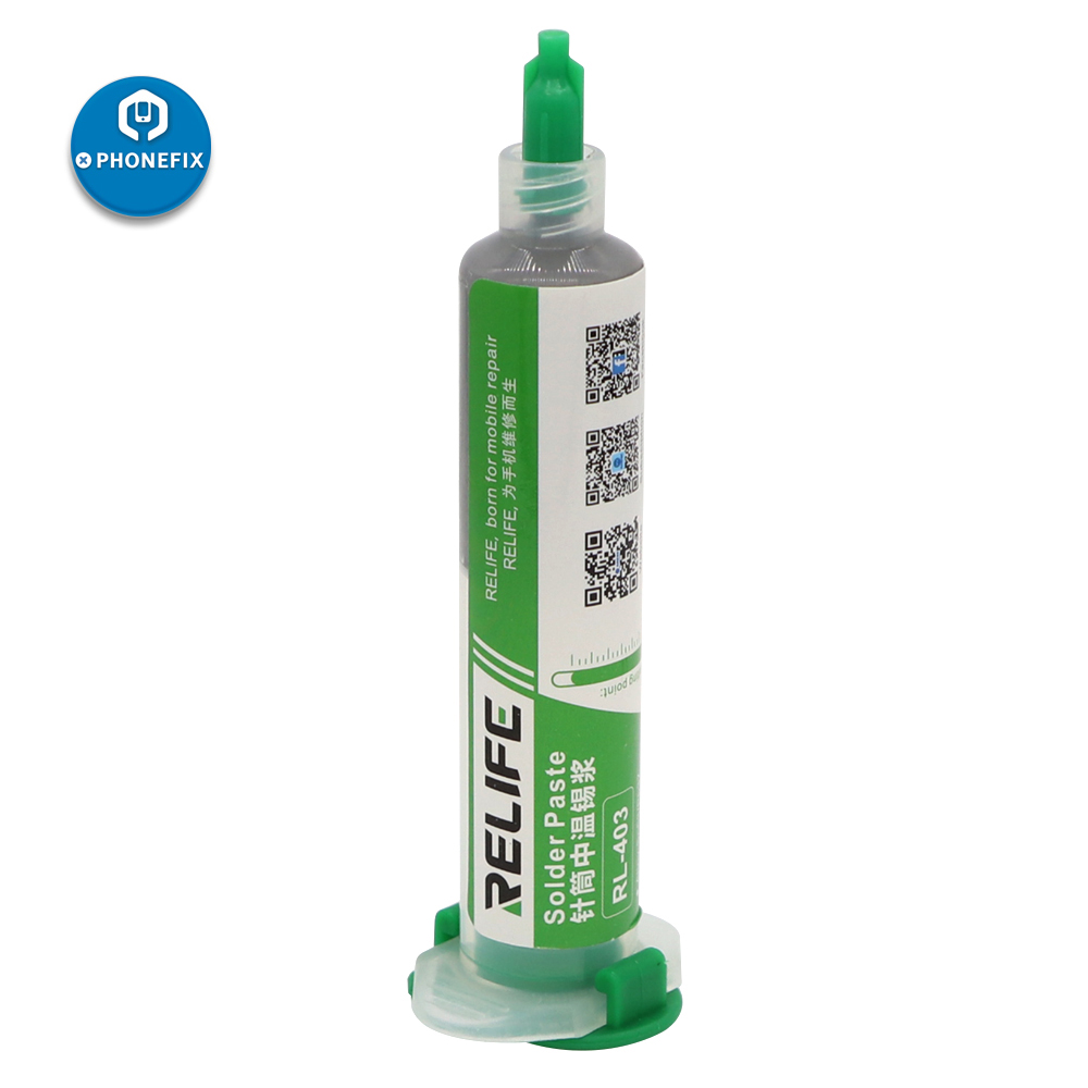 RELIFE 10CC Solder Paste Flux No-clean Green Oil Original Soldering Paste RL-403 Solder Tin Sn63/Pb67 For Soldering Iron Tips