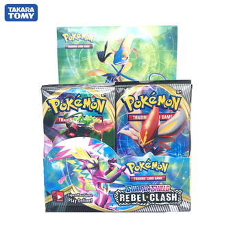 Pokemon Cards Sword Shield Rebel Clash TCG SUN&MOON  Booster Box Pokemon Vmax  EX GX Tradiner Card Game Toy For Children 1