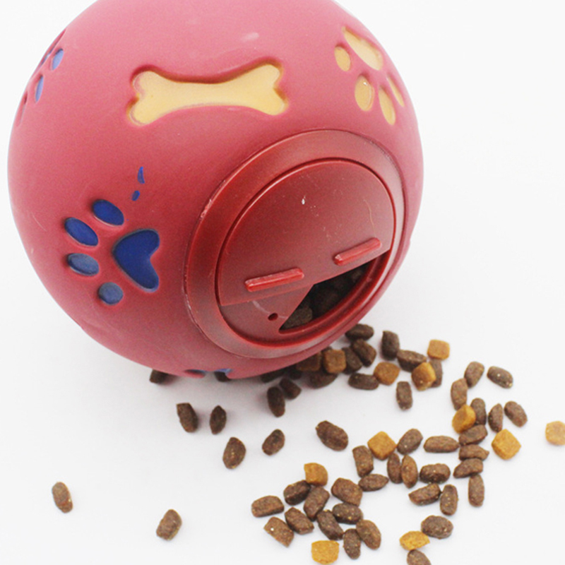 Food Dispensing Play Chewing Ball Dog Toy creative brain game pet toys Rubber ball high quality toys Multiple sizes wholesale image