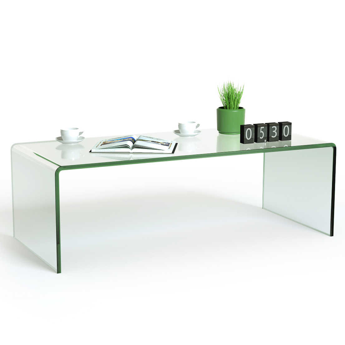 - Costway Tempered Glass Coffee Table Accent Cocktail Side Table