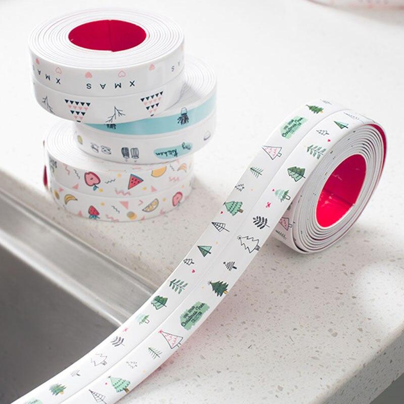 1Pcs PVC/Acrylic Multi Purpose Stick Strip Corner Line Mildew Proof Sealant Tape for Kitchen Stove Sink Self Adhesive Waterproof