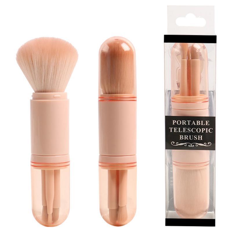 4 In 1 taşınabilir yüz makyaj fırçalar aracı seti kozmetik yumuşak toz göz farı fondoten allık güzellik makyaj fırça Dropshipping