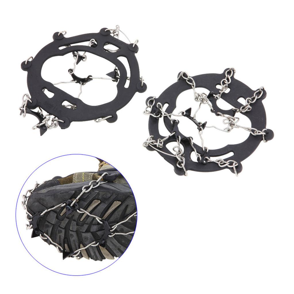 8-Teeth Ice/Snow Boots Shoes Covers  Cleats Crampons Grippers Climbing