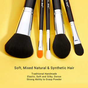 Image 3 - ג סאפ איפור מברשות סט 15pcs סינטטי שיער pincel maquiagem קרן אבקת צלליות אייליינר מיזוג קוסמטי כלי T092