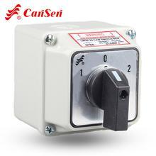 CANSEN LW26 20 20A 로터리 캠 스위치 전환 스위치 3 위치 1 0 2 IP65 방수 상자가있는 3 극