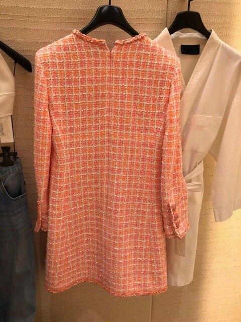 2019 elegant vestidos plus size tweed dress women custom 5xl 6xl vestidos de fiesta de noche amazing ropa mujer winter dress 3