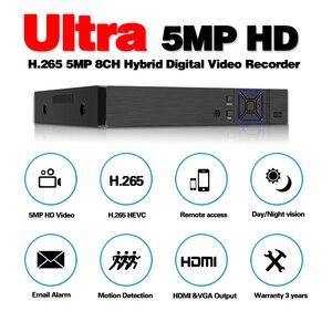 Image 2 - Hd 5 In 1 5MP Ahd Dvr Nvr Xvr Cctv 8Ch 1080P 4MP 5MP Hybrid Security Dvr Recorder Camera onvif RS485 Coaxiale Controle P2P Cloud