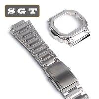 DW5600 GW-5000 5035 GW-M5610 時計バンドとケースステンレス鋼高品質 316L 金属ストラップ鋼ベルトツール
