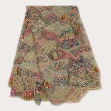 Африканская кружевная ткань новейшее высокое качество кружевная вышивка французская кружевная ткань Свадебное кружево для нигерийских вечерние платья YS-9444