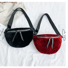 Velour Lingge Waist Bags Women Designer Fanny Pack Fashion Belt Bag Zipper Leather Pouch Phone Bag Chest Bag Stylish Money Bag