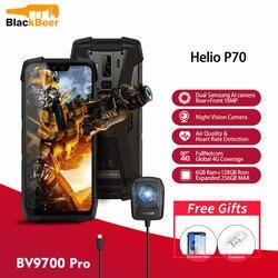 Смартфон Blackview BV9700 Pro IP68/IP69K, прочный мобильный телефон Helio P70, 6 ГБ 128 ГБ, Android 9,0, 16 + 8 Мп, двойная камера ночного видения