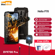 Blackview BV9700 Pro IP68/IP69K Rugged Mobile Phone Helio P70 6GB 128GB Android 9.0 Smartphone 16+8MP Night Vision Dual Camera