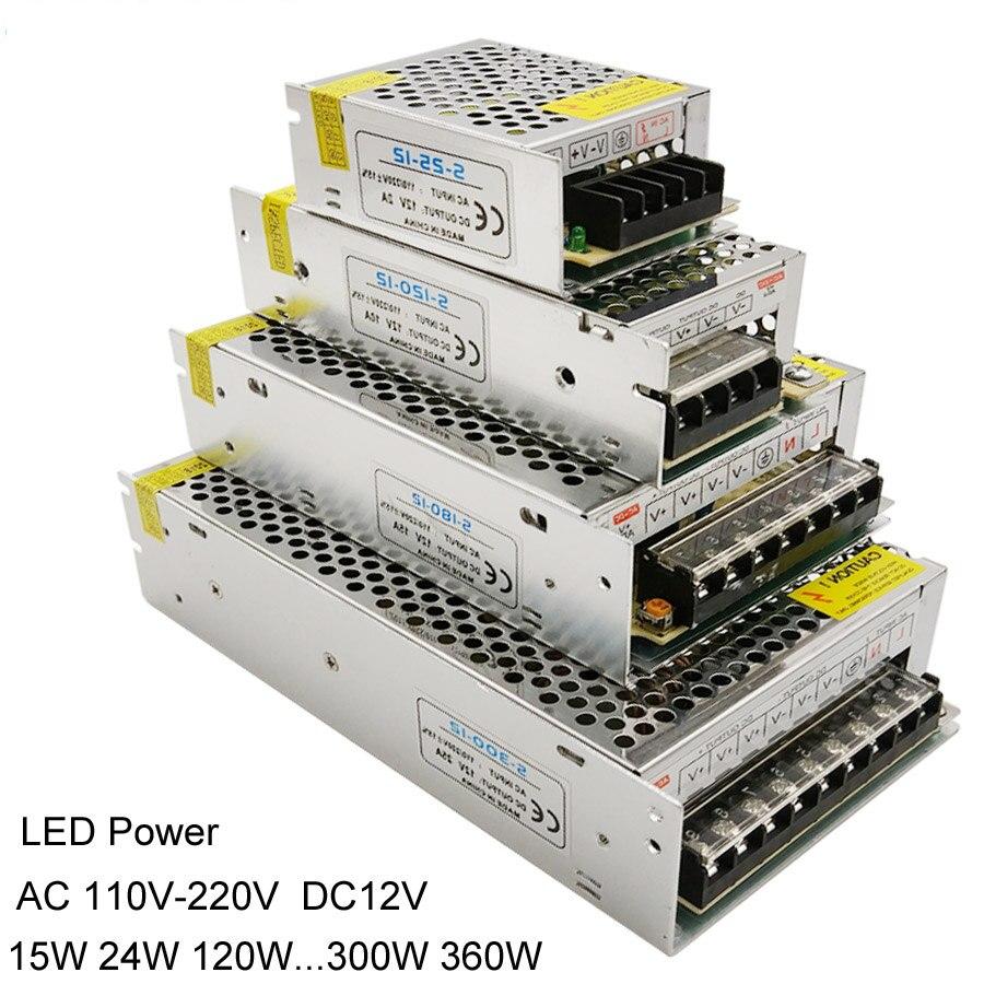 12V светодиодный трансформатор Питание сплиттер адаптер 110V-240V DC/DC 12V 2A 3A 5A 6.5A 10A 15A 20A 25A драйвер для светодиодный светодиодные полосы света
