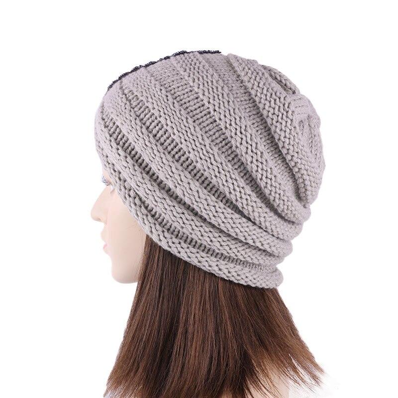 Quente turbante boné feminino outono inverno acessórios