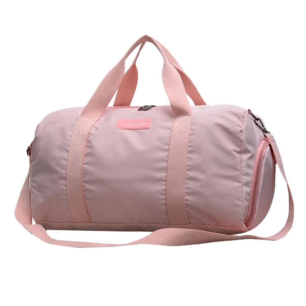 Black Pink Gym Bag Women Shoe Compartment Waterproof Sport Bags For Fitness Training Yoga Bolsa Sac De Sport