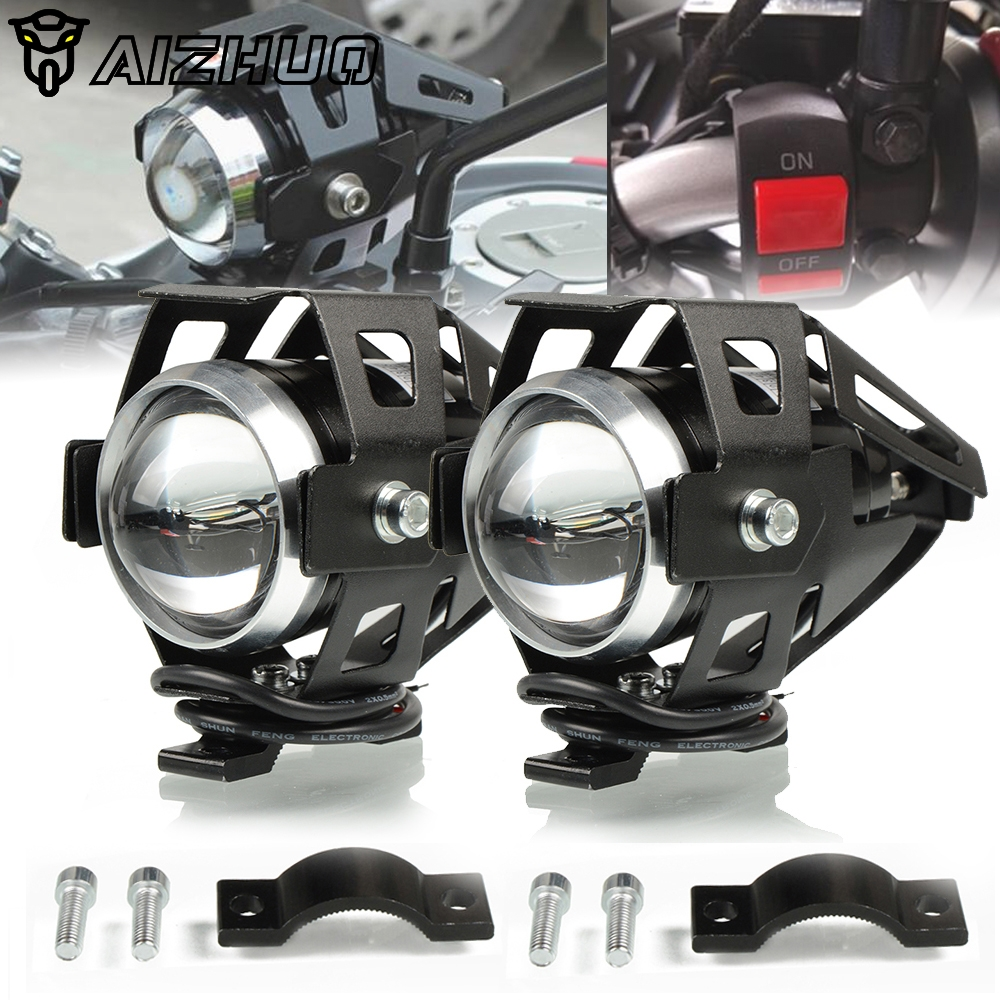 Motorcycle Headlights U5 Headlamp Spotlights Fog Head Light For BMW R1200GS adv lc R1200 GS adventure R1200RT 2008-2018
