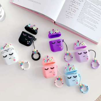 For AirPods Pro 2 1 Case 3D Cartoon Unicorn Case Cover For AirPods Pro Protective Earphone Charging Box Cover For AirPods 2 for airpods case 3d cartoon cute car style case for airpods 1 2 case silicone protective earphone cover for airpods pro case