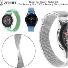 22mm nylon loopback Strap For Huawel Watch GT frontier/Classic bracelet Samsung Gear S3/Galaxy 46mm smart watch wristband
