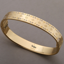 AU750 18k Gold Bracelet For Women Fine Jewelry High Quality Zircon Bangles Holiday Gifts Wholesale Romantic Lover Fashion Party