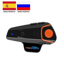 Fodsports BT S2 Pro Motorcycle Intercom Helmet Headset Wireless Bluetooth Waterproof Interphone Intercomunicador Moto FM