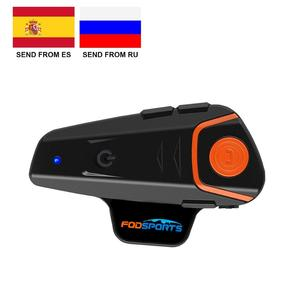Image 1 - Fodsports BT S2 Pro Motorcycle Intercom Helmet Headset Wireless Bluetooth Waterproof Interphone Intercomunicador Moto FM