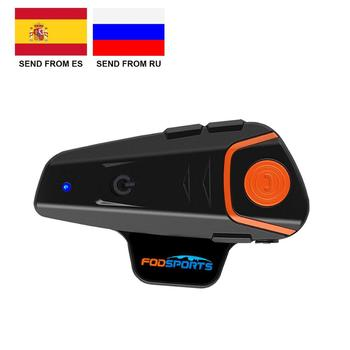 Fodsports-Intercomunicador BT-S2 Pro para motocicleta, auriculares inalámbricos con Bluetooth, Intercomunicador resistente al...