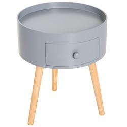 HOMCOM Modern Living Room coffee table with drawer Living Room Wood Ф 38 × 45cm Gray