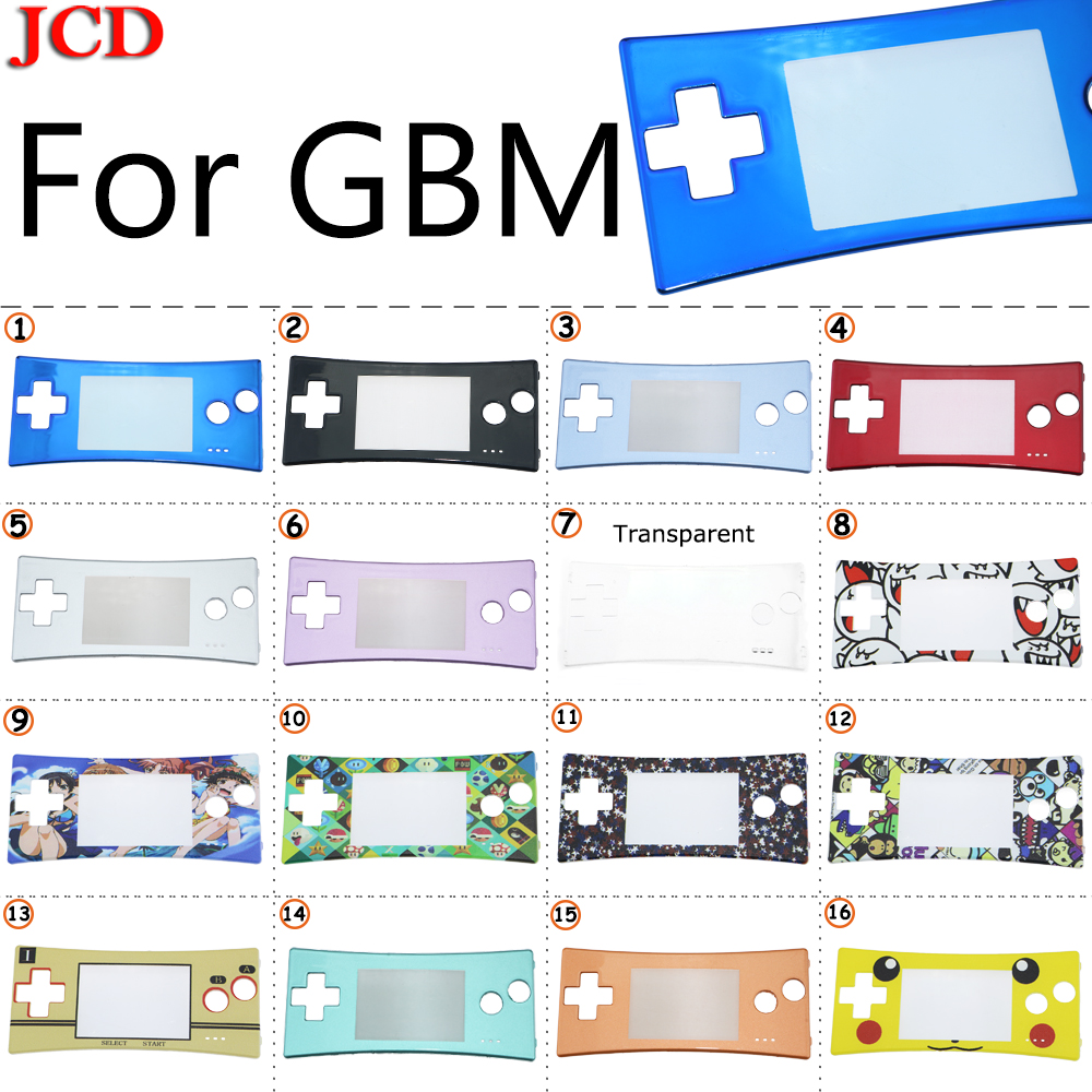 JCD For Nintendo Front shell <font><b>case</b></font> cover faceplate for GameBoy Micro Shell Housing <font><b>Case</b></font> Cover For <font><b>GBM</b></font> Halloween Front Faceplate image