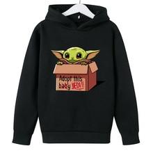 Manufacturers Cross Border Hot Sales baby Yoda boys girls Uniform Hooded Sweatshirt mandalorian Autumn Kids spring Hoodies 2021