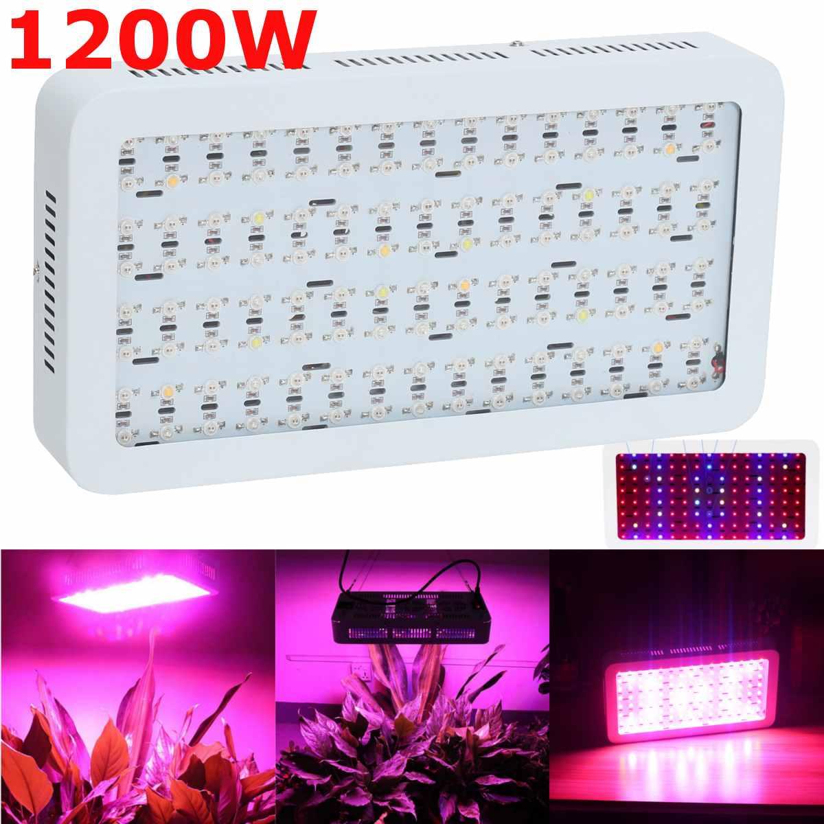 1200W 120Pcs LED Full Spectrum Hydroponic LED Grow Light Lamp For Plants Veg Bloom Fruit
