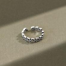 Кольцо женское из серебра 925 пробы с листьями