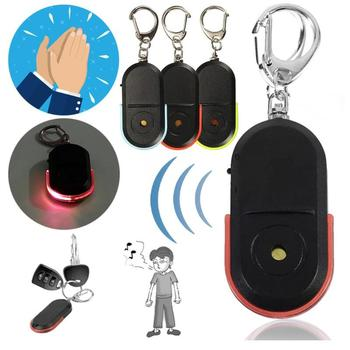 New Arrival Wireless Anti-Lost Alarm Reminder Key Finder Locator Keychain Whistle Sound With LED Light Mini Anti Lost Key Finder white smart finder key locator anti lost keys chain keychain whistle sound control with led light wholesale