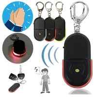 Wireless Anti-Verloren Alarm Schlüssel Finder 10m Locator Keychain Whistle Sound Fernbedienung Mit LED Licht Mini Anti ht rot blau grün