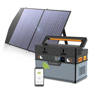 ALLPOWERS-generador Solar portátil de 66wh/186200mAh, estación de energía Solar con Panel Solar plegable 18V100W MC4 Anderson para Camping