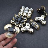 Engranajes de Spinner para usarlos con la punta del dedo Top Gyro juguetes de Metal de EDC escritorio Anti estrés dedo juego para adultos y niños
