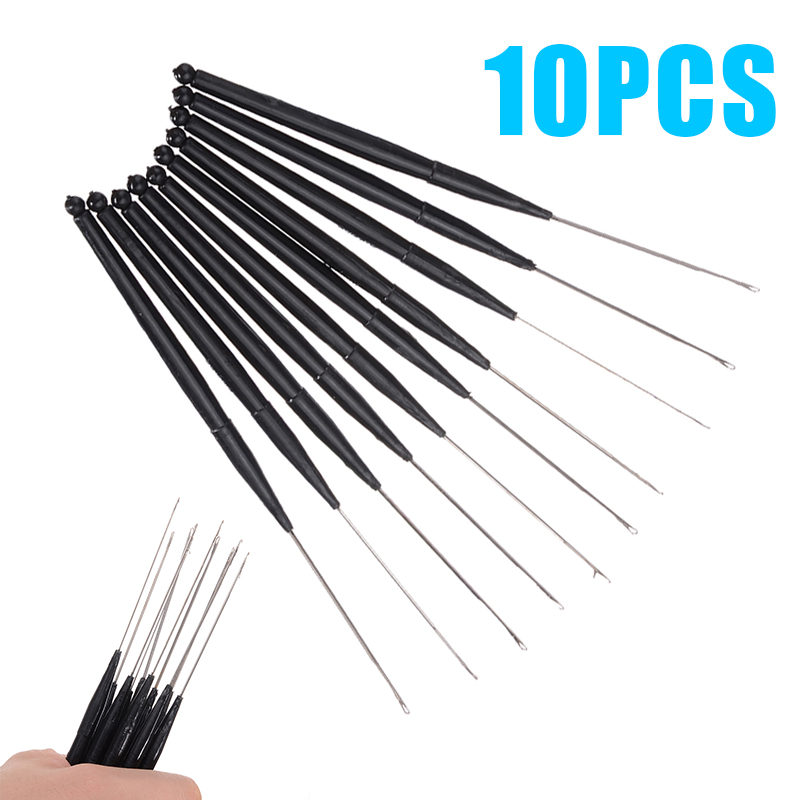 10pcs 165mm Length Crochet Hook Needle Plastic Handle For Hair/Micro Braid Needle Dread Lock Maintaining