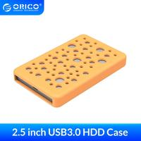 ORICO-carcasa de disco duro externo para ordenador, carcasa de disco duro HDD Hd de aluminio USB3.0, 5/6Gbps a SATA, cubierta protectora de silicona, 2,5