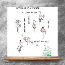 ZhuoAng Proud flamingo Clear Stamps/Silicone Transparent Seals for DIY scrapbooking photo album Stamps