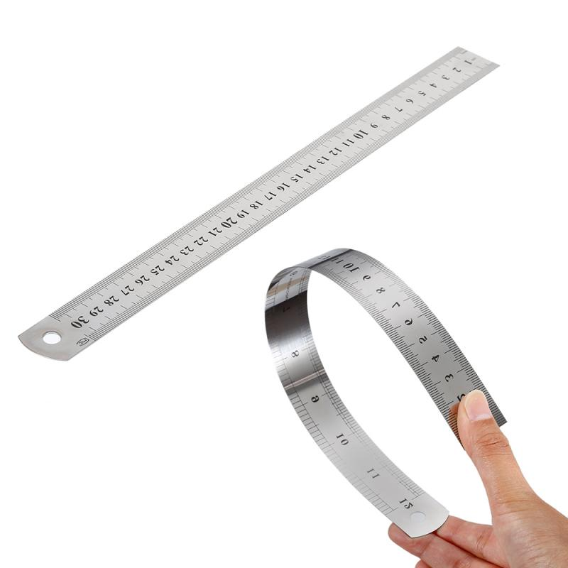 Stainless Steel Metal Straight Ruler Measurement Tool Metric Ruler Double Sided Precision Measuring Tool For Drawing