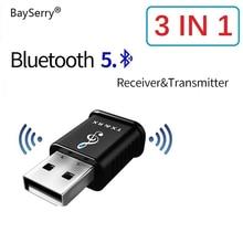 Bluetooth 5.0 אודיו מקלט משדר 2 ב 1 AUX RCA USB 3.5mm מיני סטריאו Bluetooth שקע עבור טלוויזיה מחשב לרכב אלחוטי מתאם